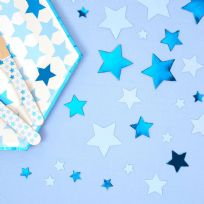 Little Stars Blue Table Confetti